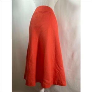 Talbots women's skirt 6 petites orange linen flare